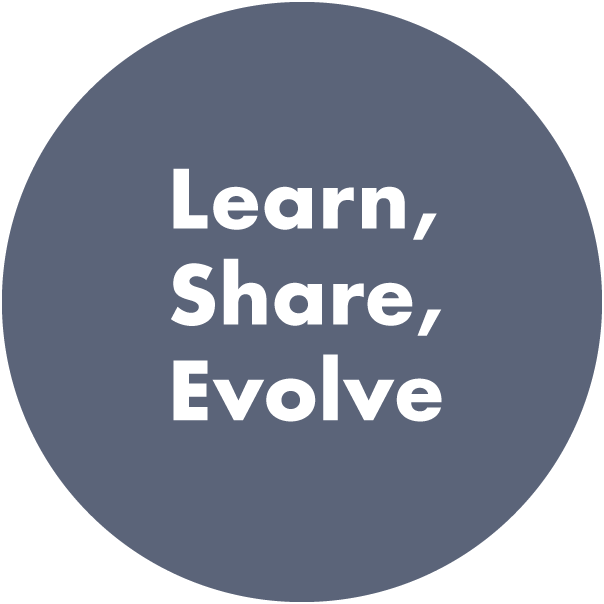 Learn, Share, Evolve image