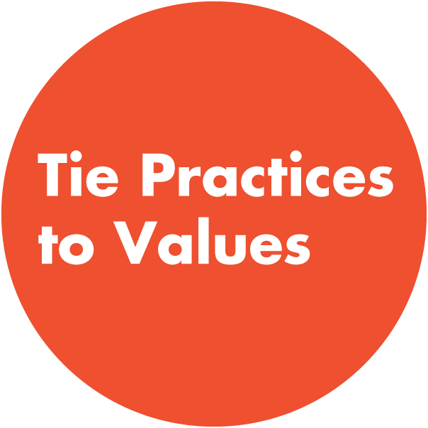 Tie Practices to Values